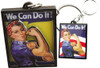 Born 2D Rosie The Riveter Epoxy Key Chain KC-ERR