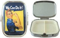 Born Rosie The Riveter Pill Box AN-RRPB