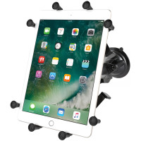 "Shown: Large Cradle, 3.69"" Arm, Locking Suction Cup Mount"