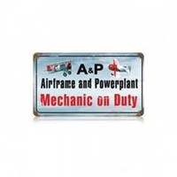A&P Mechanic on Duty Sign  SIGN-A&P ON DUTY