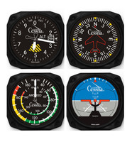 Cessna 4-Piece Instrument Coaster Set  CES-9075