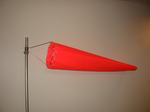 "Wind Sock 8"" x 2' Nylon (Orange) (WC8N)"
