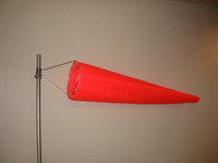 "Wind Sock 8"" x 3.5' Nylon (Orange) (WC8N)"