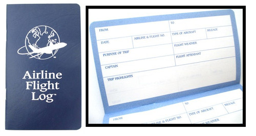Kid's Air Travel Logbook  AIRLINE FLIGHT LOG