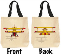 Bi-Plane Canvas Bag  TOTE-BIPLANE