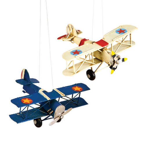 White Vintage Airplane Ornament  orn-vaw