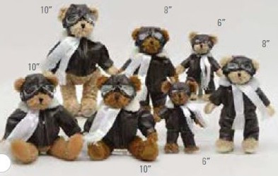 "Teddy Bear-Pilot Suit-10"" FLYBEAR-10"