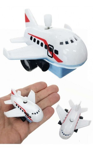 "The Worlds Smallest Jumbo Jet Plane wanders around like its looking for the airport gate.Just windup the engine on the jet's top to watch the silly action. Our World's Smallest Jumbo Jet Plane is a not-so-jumbo plastic windup plane. Collect all of our windup planes and vehicles.  Type: One Plastic Wind-up Airplane • Key Attached - Colors Assorted Category: White Knob Windup Plastic Vehicle • Ages 3+ Size: 2.5"" Long (2.5 x 2.5 x 1.75 inches)"