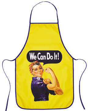 Cloth Apron with Rosie's image brightly on the center. Neck and waist straps.