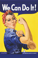 Rosie The Riveter Poster Magnet  (MA-RRPM)-SkySupplyUSA