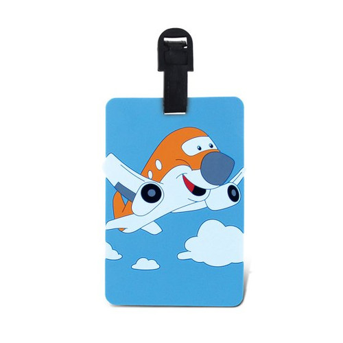 Kids Luggage Tag - Airplane tag-kidsairplane