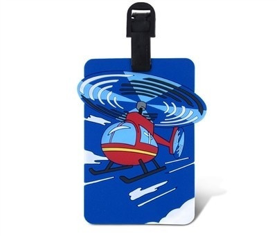 Kids Luggage Tag - Helicopter tag-kidshelicopter