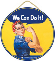 Rosie The Riveter Wooden Sign WS-RR
