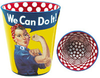 Rosie The Riveter Glass Shot Glass RR-SG
