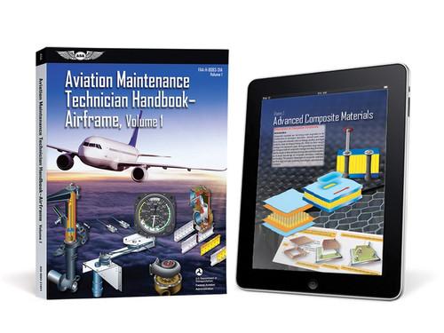 AMT Handbook - Airframe: Volume 1 (eBundle) New edition ASA-8083-31AV1-2X 978-1-61954-830-5 SkySupplyUSA.com