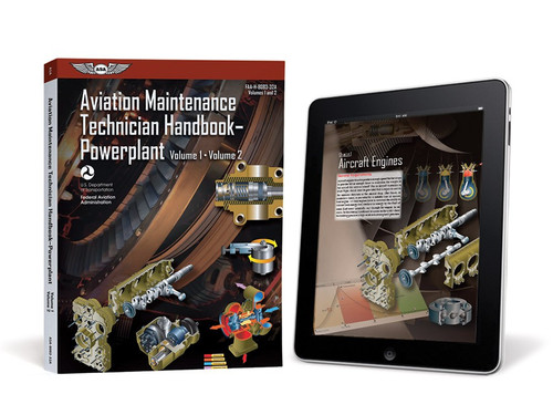 AMT Handbook - Powerplant: Volumes 1 & 2 (eBundle) - New edition ASA-8083-32A-2X 978-1-61954-840-4 SkySupplyUSA.com