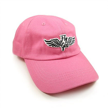 Pink Ball Cap w/Fly Girl Wing Patch CAP-FLY GIRL SkySupplyUSA.com