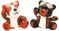 Dog and Bear Aviator Salt and Pepper AN-DBSP SkySupplyUSA.com