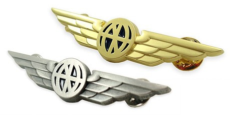 Pilot Wings - Aviator Wings Lapel Pin  WINGS- WINGS-SILVER WINGS-GOLD SkySupplyUSA.com