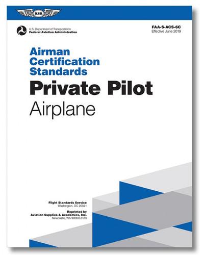 ASA ACS Private Pilot Airplane ASA-ACS-6C SkySupplyUSA.com