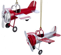 Tin Airplane Ornament  or-tinap skysupplyusa.com