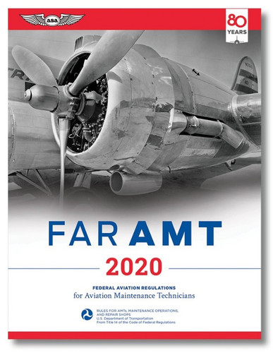 ASA 2020 FARs for Aviation Maintenance Technicians ASA-2020-FARAMT ASA-20-FAR-AMT ASA-20-FAR-AMT2X SkySupplyUSA.com