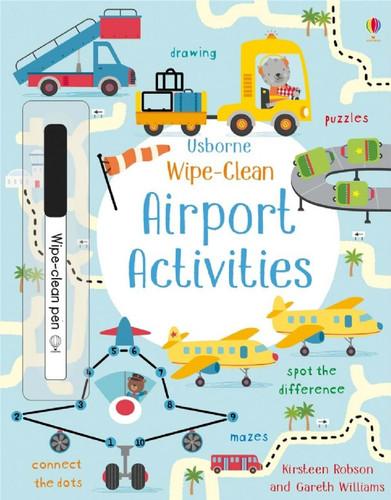 Usborne Airport Activity Book - Wipe Clean WIPE-CLEAN AIRPORT ISBN: 978-0-7945-4755-4 SkySupplyUSA.com