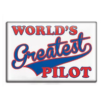World's Greatest Pilot Fridge Magnet FM-WGP SkySupplyUSA.com