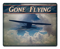 Gone Flying w/Airplane in Clouds Metal Sign SIGN-GF-AP SkySupplyUSA.com