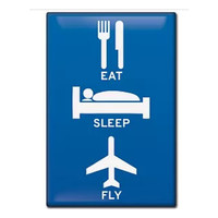 Eat, Sleep, Fly Magnet FM-ESF SkySupplyUSA.com
