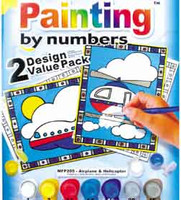 Helicopter and Airplane Paint by numbers set  cr-pbn SkySupplyUSA.com