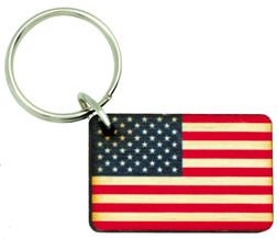 Wooden US Flag Keychain KC-WFLAG SkySupplyUSA.com