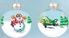 Transparent Plane and Snowman Ornament Front & Back OR-ASM SkySupplyUSA.com