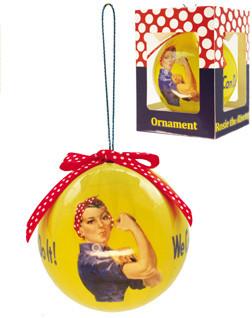 Rosie The Riveter Christmas Ornament  (RR-ORB)SkySupplyUSA