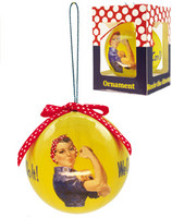 Rosie The Riveter Christmas Ornament  (RR-ORB)SkySupplyUSA