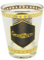 P-51 Gold Shot Glass SG-P51 SkySupplyUSA.com