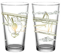 Airplane Gold and Ice Pint Glass  DW-GICEA SkySupplyUSA.com