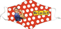 Rosie the Riveter Flight Face Mask RR-FM SkySupplyUSA.com