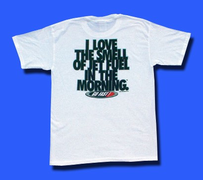 I love the smell of jet fuel in the mornings t-shirt XL  shirt-fuel/xlg SkySupplyUSA.com