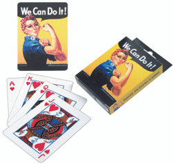 Rosie The Riveter Playing Cards  AN-RCARD SkySupplyUSA.com
