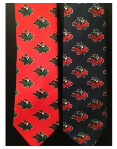 Flying Santa Claus Tie  SANTA TIE-NAVY SANTA TIE-RED SkySupplyUSA.com
