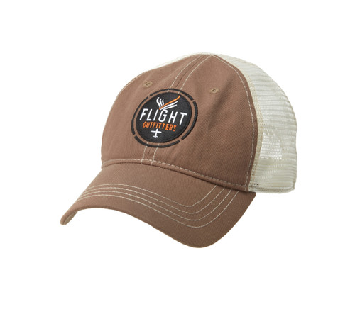 Flight Outfitters BROWN TRUCKER HAT FO-MBH300-BR SkySupplyUSA.com