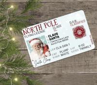 Santa's Lost Flying License Card SkySupplyUSA.com