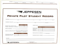 Jeppesen Private Pilot Record Folder 10001796-003