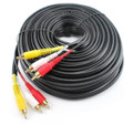 60ft. 3-RCA Male to 3-RCA Male Composite Audio Video Cable w/ Gold-Plated Connectors