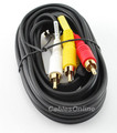 6 ft. 3-RCA to 3-RCA Composite Audio/Video Cable
