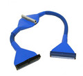 """36"""" ATA 66/100/133 Round IDE Cable, Blue"""