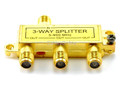 3-Way Coaxial Signal Splitter - Gold Plated