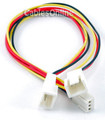 3-Pin Female to 2x 3-Pin Male Connectors Power Y Splitter Cable