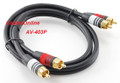 3 ft 2-RCA Audio M/M Premium 22-AWG Cable